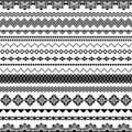 Vector seamless brushes for frames, dividers, borders.