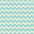 Vector seamless chevron pattern on linen turquoise canvas background vintage rustic burlap zigzag Royalty Free Stock Photography