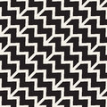 Vector seamless chevron zigzag diagonal lines geometric pattern black and white abstract background design Stock Photography