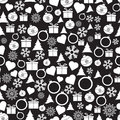 Vector seamless Christmas and New Year pattern.