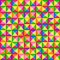 Vector seamless colorful 3d geometric pattern from square blocks. Origami style.