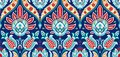 Vector seamless colorful pattern in turkish style. Vintage decorative background. Hand drawn ornament. Islam, Arabic