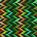 Vector Seamless Colorful Pink Green Shades Geometric Chevron Tiling Pattern on Checker Dark Background