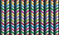 Vector seamless decor zigzag of satin ribbons Stock Image