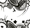Vector seamless decorative floral pattern. Abstract drawn background. Summer texture.