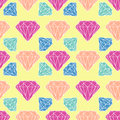 Vector seamless diamond, crystal pattern Royalty Free Stock Photo