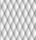 Vector seamless diamond pattern black and white lines Royalty Free Stock Image