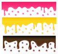 Vector seamless drips Royalty Free Stock Photos