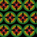 Vector seamless ethnic pattern with fists