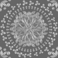Vector Seamless floral lace white pattern Stock Images