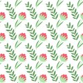 Vector seamless floral pattern design.