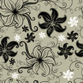 Vector Seamless floral twirled pattern Stock Images