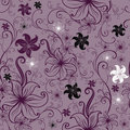 Vector Seamless floral twirled pattern Royalty Free Stock Photo
