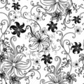 Vector Seamless floral twirled pattern Royalty Free Stock Image