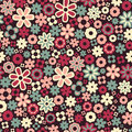 Vector seamless flower pattern background Royalty Free Stock Photo