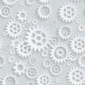 Vector seamless gears pattern