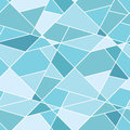 Vector seamless geometric blue polygonal pattern abstract background for design Stock Photos