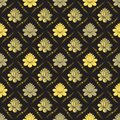 Vector Seamless gold floral pattern Royalty Free Stock Image