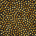Vector Seamless Golden Gradient Triangle Shape Jumble Pattern Royalty Free Stock Photo