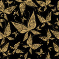 Vector seamless grunge pattern with butterfly Royalty Free Stock Photos