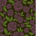 Vector Seamless grunge rose pattern Stock Image