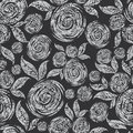 Vector Seamless grunge rose pattern Royalty Free Stock Photography