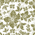 Vector Seamless grunge vintage floral pattern Royalty Free Stock Photo
