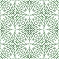 Vector seamless guilloche background illustration of green tangier grid abstract Royalty Free Stock Images