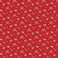 Vector seamless heart pattern love background