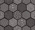 Vector Seamless Hexagonal Jumble Patterns Royalty Free Stock Photo