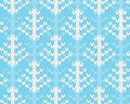 Vector seamless knitted pattern with trees background imitation jacquard knitting Royalty Free Stock Images