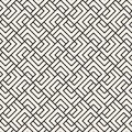 Vector seamless lattice pattern. Modern stylish texture with monochrome trellis. Repeating geometric grid. Simple design