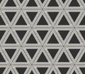 Vector seamless lines pattern. Modern stylish triangle shapes texture. Repeating geometric tiles