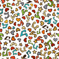 Vector seamless love music pattern.