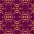 Vector Seamless Mandala Pattern over purple Royalty Free Stock Photo