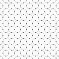 Vector seamless minimalistic pattern of curved lines with dots in nodes.