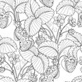 Vector Seamless Monochrome Fruit Pattern