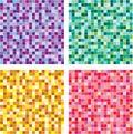 Vector seamless of mosaic pattern Stock Photos