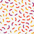 Vector Seamless Multicolor Memphis Style Lines Jumble Pattern
