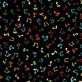 Vector seamless music pattern.