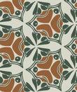 Vector seamless art nouveau wallpaper pattern