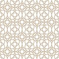 Vector seamless oriental pattern - simple geometric design. Abstract trendy eastern symmetric background. Creative