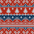 Vector seamless ornament on the knitted texture Royalty Free Stock Photo