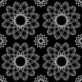 Vector Seamless Ornamental Black And White Pattern Endless Texture