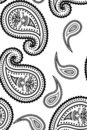 Vector seamless paisley pattern Royalty Free Stock Photo