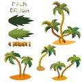 Vector seamless palm tree brush.