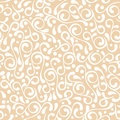 Vector seamless pastel beige flourish pattern Royalty Free Stock Photo