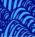 Vector seamless pattern with abstract blue waves background Royalty Free Stock Image