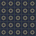 Vector seamless pattern of abstract flowers in subtle dark color