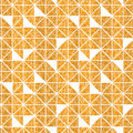 Vector Seamless Pattern Abstract Geometric Background With Triangles In Golden Glitter Texture.